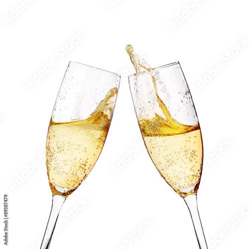 Photo Two elegant champagne glasses