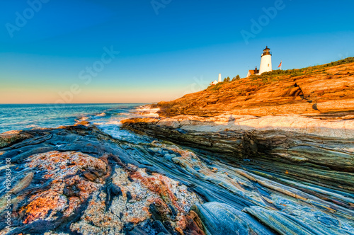 Pemaquid Point Lighthouse in Maine, USA.
