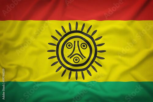 Wallpaper Mural Jatibonicu Taino Tribal Nation flag on the fabric texture backgr