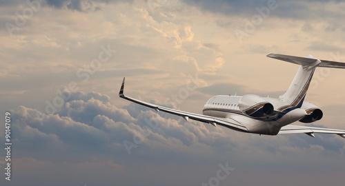 Fotografie, Obraz Private jet in flight