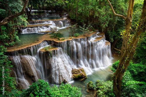 Stampa su Tela Waterfall in, Kanchanaburi, Thailand
