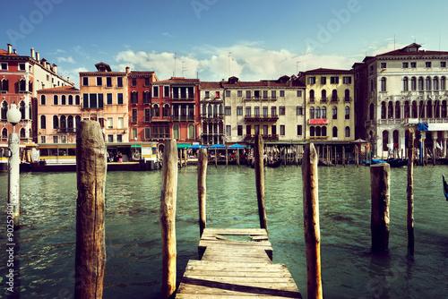 Fototapeta Grand Canal, Wenecja, Włochy w słoneczny dzień na ścianę
