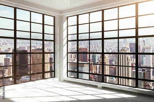 empty white modern interior