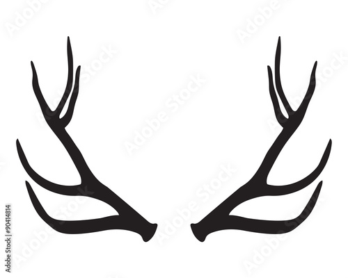 Fotografia black silhouette of antlers