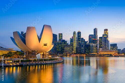 Canvas Print Singapore Skyline