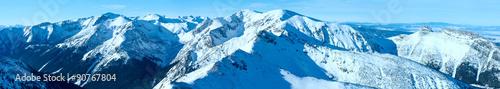 Kasprowy Wierch  in the Western Tatras. Winter panorama. #90767804