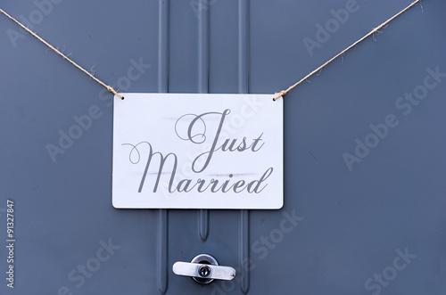 Fotografija just married