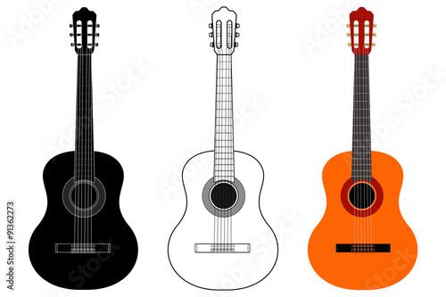 Stampa su Tela Guitar.