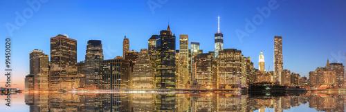 New York City Manhattan midtown panorama #91450020