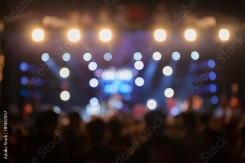 Canvastavla De-focus music performance concert with beautiful bokeh spotlight