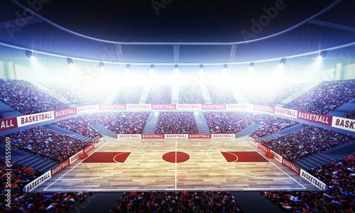 Canvas Print Basketball arena