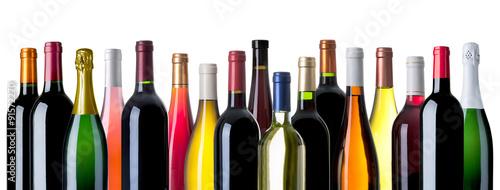 Valokuva diverse Weinflaschen