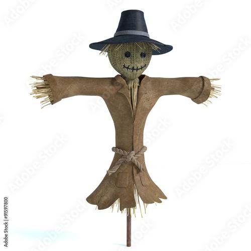 Obraz na płótnie 3d illustration of a scarecrow
