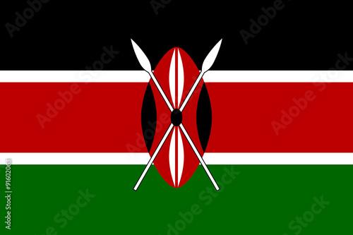 Canvas Print Flag of Kenya