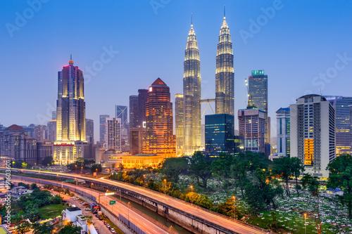 Canvas Print Kuala Lumpur Skyline