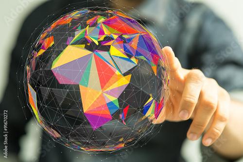world Fototapet