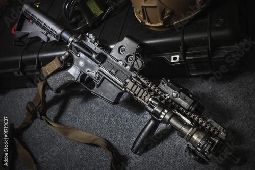 Carta da parati assult rifle