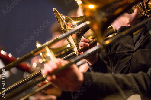 Fotografia Symphony orchestra performing.