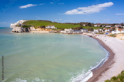 Canvas Print Freshwater Bay Isle Of Wight UK