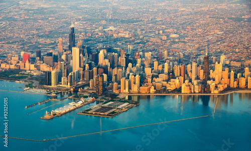 Stampa su Tela Chicago skyline