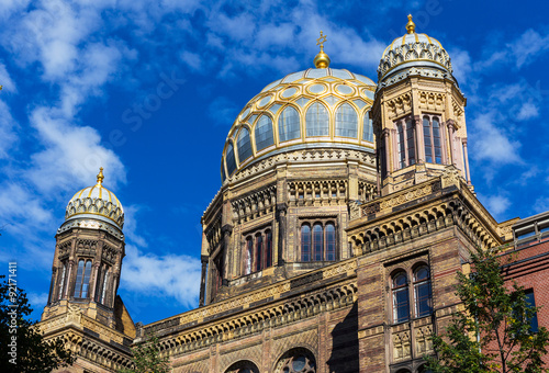 Obraz na plátně Berlín synagoga ve čtvrti Mitte