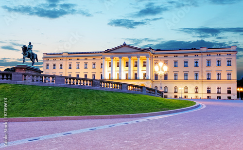 Canvas Print Royal palace in Oslo, Norway