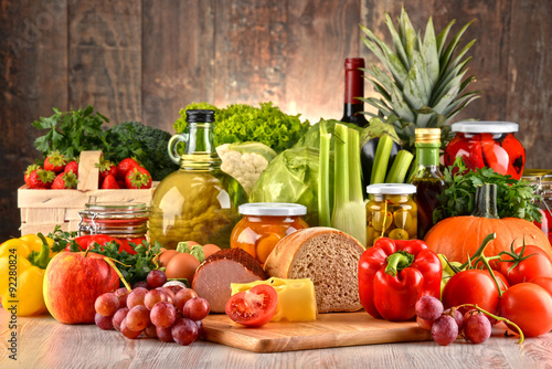 Composition with variety of organic food #92280824