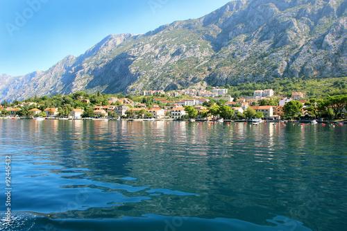 Stampa su Tela Bay of Kotor, Montenegro. Kotor. Old town view. Adriatic sea