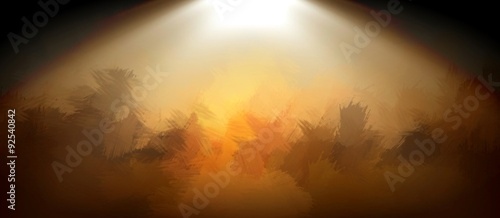 Fotografering blurr abstract background with god light on stage