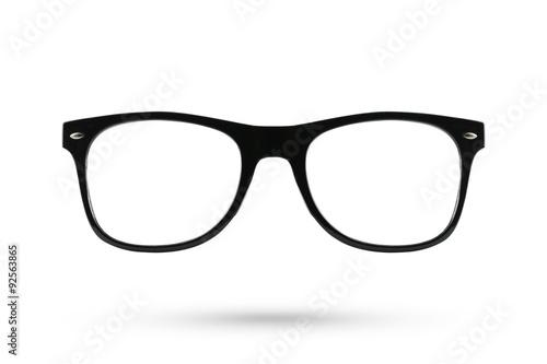 Fashion glasses style plastic-framed isolated on white backgroun