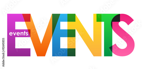 EVENTS Overlapping Letters Vector Icon #92645855