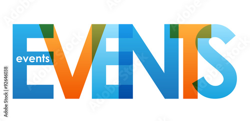 EVENTS Overlapping Vector Letters Icon #92646038
