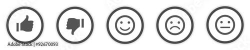 Fotografia Icons Buttons grey Feedback