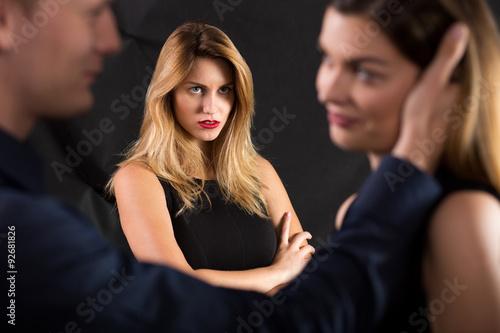 Fotografiet Macho cheating on his girlfriend