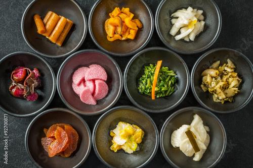 Fototapeta premium Pikle z Kioto Japońskie marynowane marynaty z Kioto