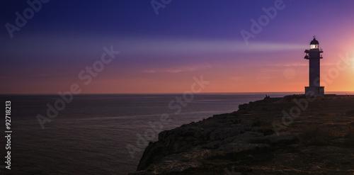 Canvas Print formentera lighthouse