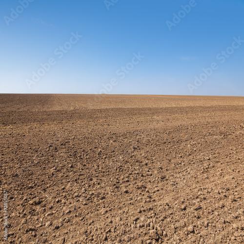 Plowed field Fototapeta