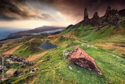 Obraz na płótnie Old Man Of Storr, Isle of Skye, Scotland, UK