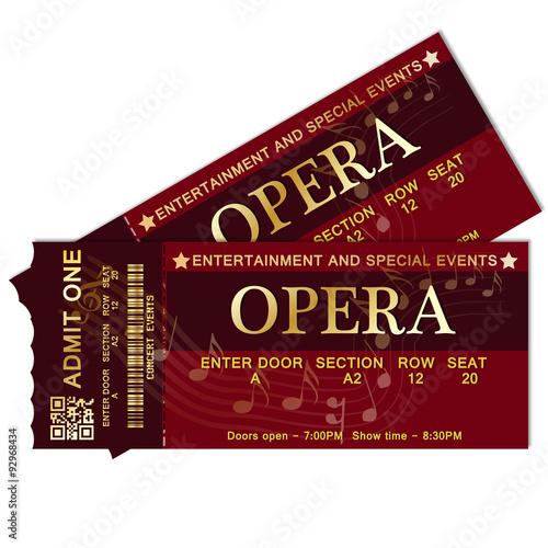 Opera Tickets Fototapeta