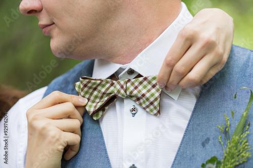 Fototapeta Wedding bow tie