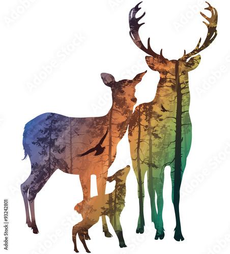 rodzina jeleni