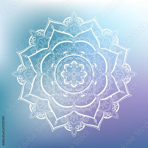 Obraz na plátně Ornamental circle pattern. Mandala