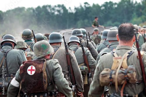 Wallpaper Mural Squad of german soldiers