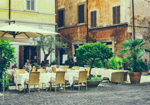Old street in Rome, Italy #93428853