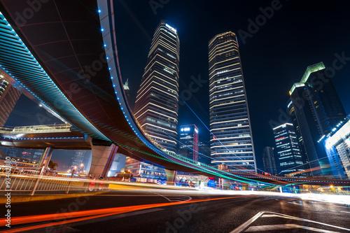 Εκτύπωση καμβά Shanghai Downtown