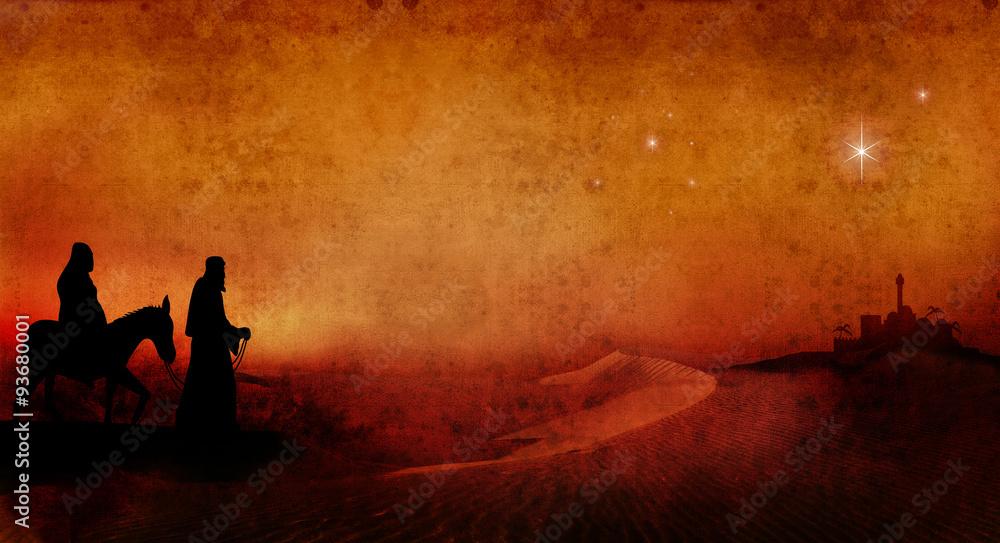 Maryja i Józef przez pustynię 3 <span>plik: #93680001   autor: stuart</span>