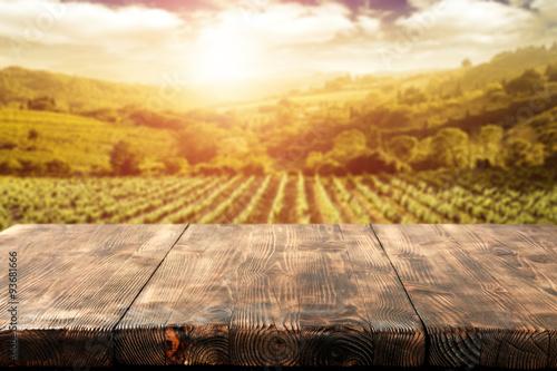 Obraz na płótnie desk space and vineyard