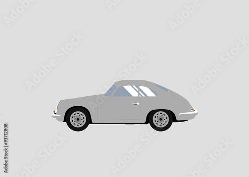 Photo Porsche Oldtimer Flat Design
