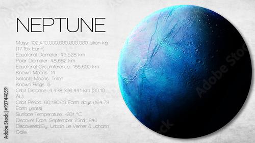 Obraz na płótnie Neptune - High resolution Infographic presents one of the solar