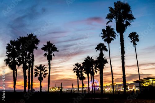 Santa Monica at sunset, Los Angeles #93805015